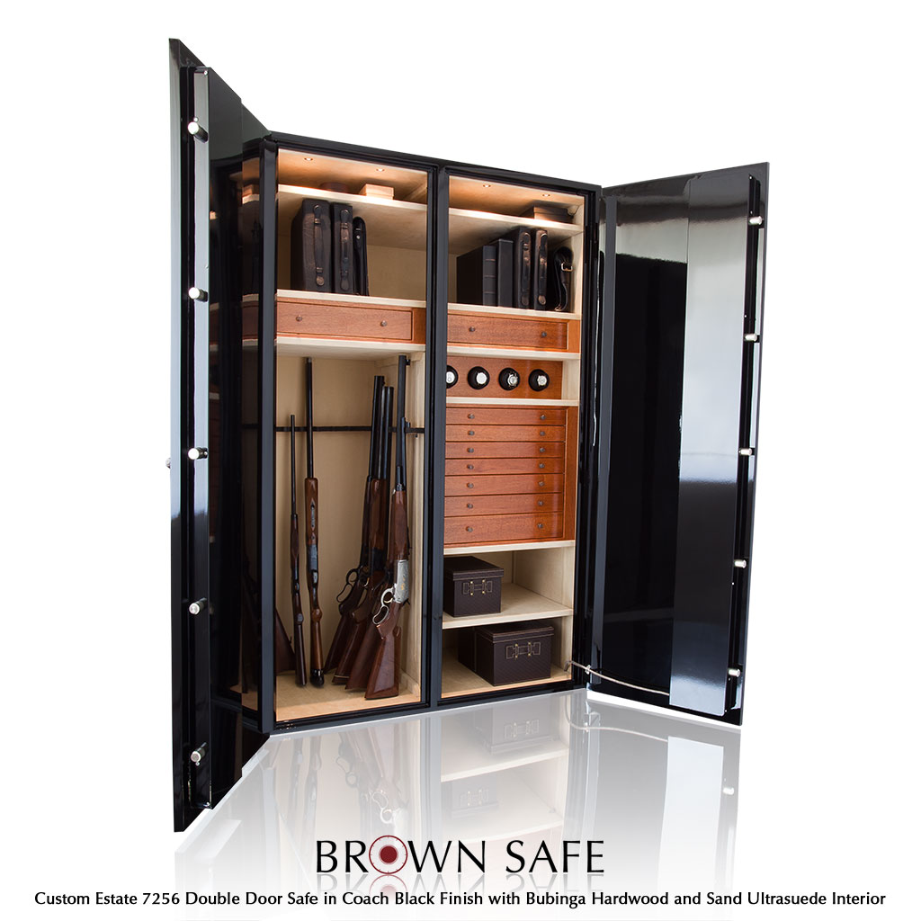 Custom safe estate series luxury gun safes from brownsafe custom safe estate 7256 black bubinga gun safe planetlyrics Choice Image