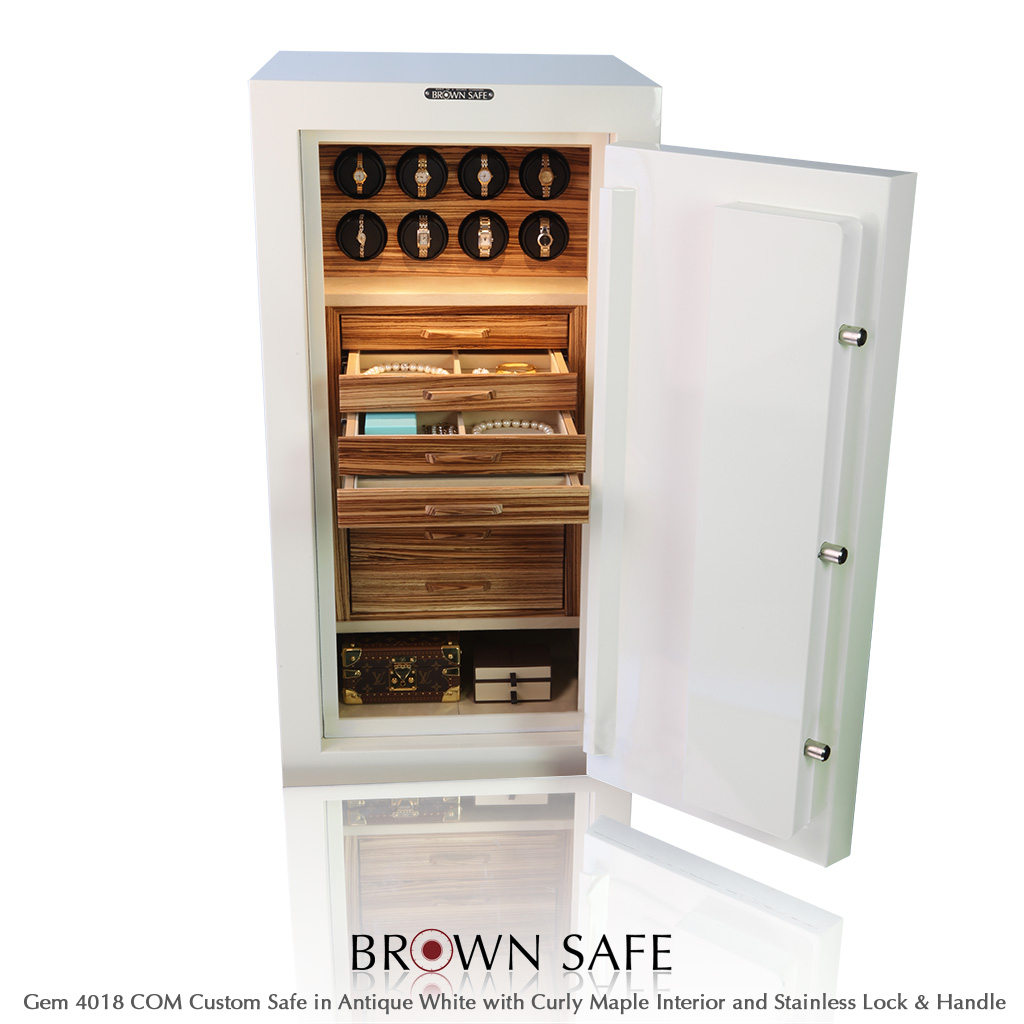 Custom Safe - Gem Series 4018 with Zebrawood from BrownSafe com