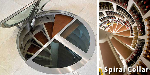 Circular wine cellar cost american hwy for Spiral wine cellar cost
