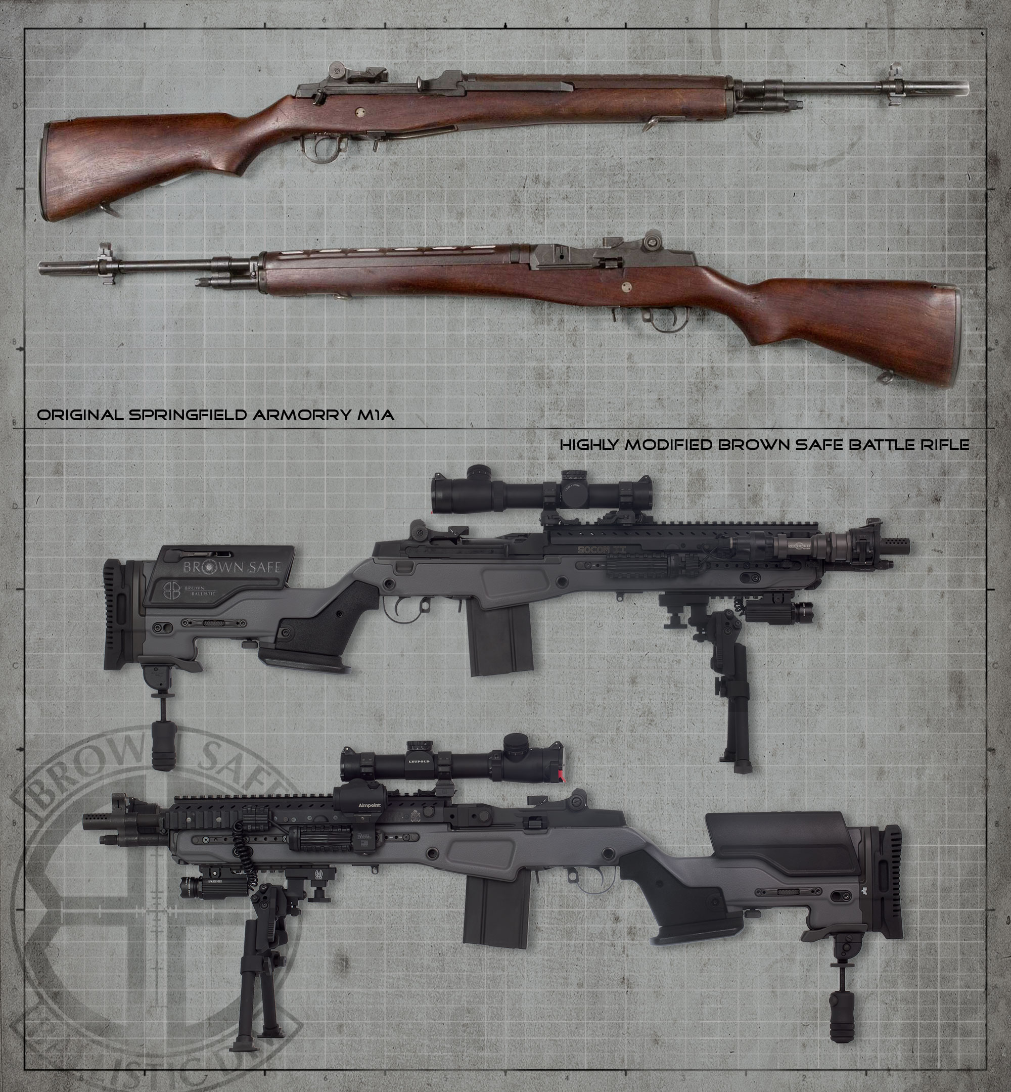 The Socom II is undoubtedly  M14 Socom 2