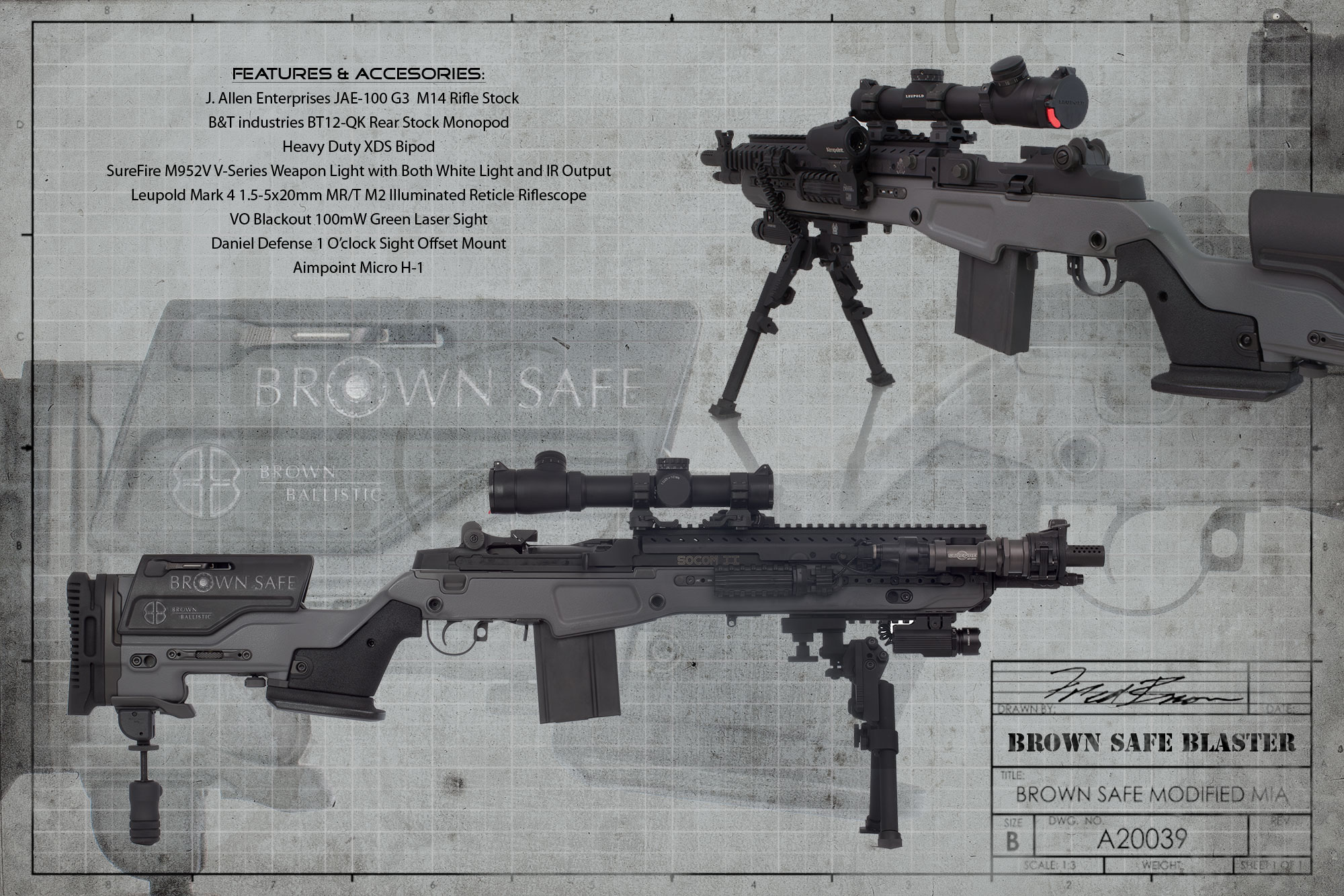 To counteract operator fatigue  M14 Socom 2