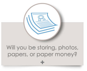 Will you be storing, photos, papers, or paper money?