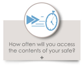 How often will you access the contents of your safe?
