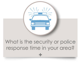 What is the security or police response time in your area?