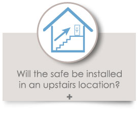Will the safe be installed in an upstairs location?