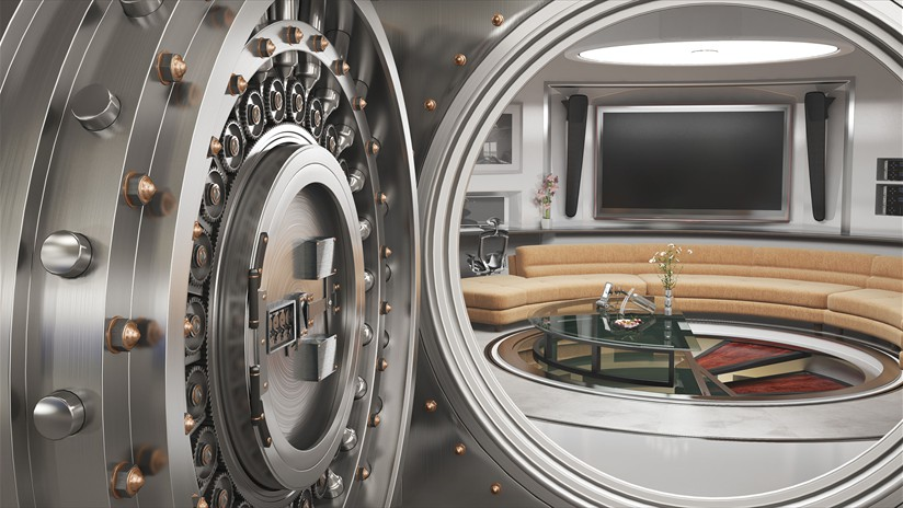Monument round vault door for Custom safe rooms