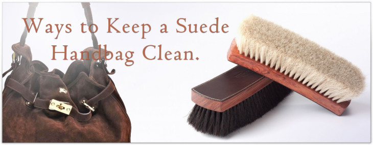 how to keep suede purse clean