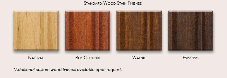 Standard Wood Stain Finishes