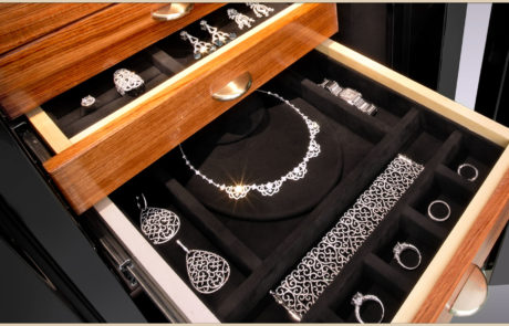 jewelry drawer with necklace form