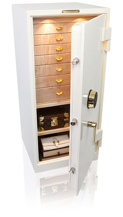 white jewelry safe