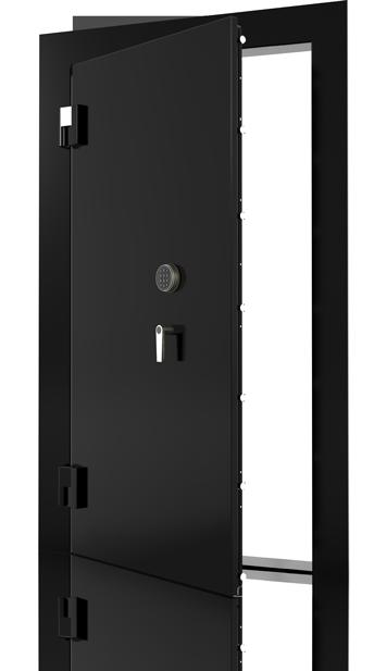 Glossy Black Paint Vault Door