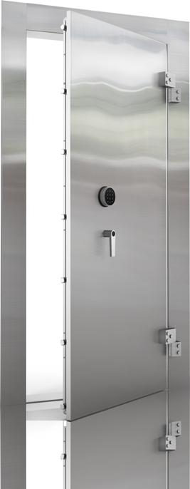 stainless steel mirror finish vault door