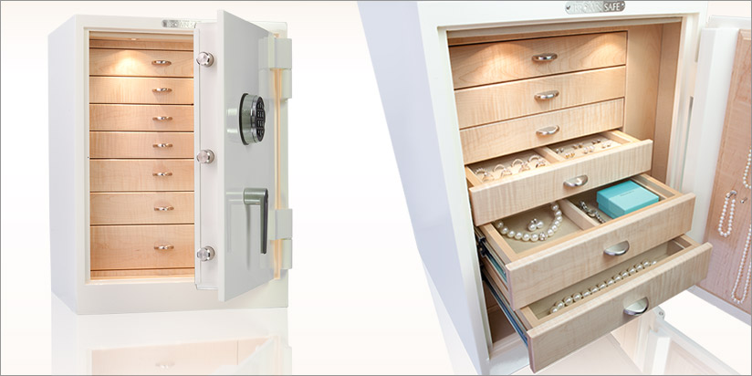 Gem Model 2418 Compact Luxury Jewelry Safes For Home